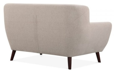 Emily Two Seater Sofa In Cream Rear Angle