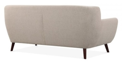 Emily 3 Seater Sofa In Cream Rear View