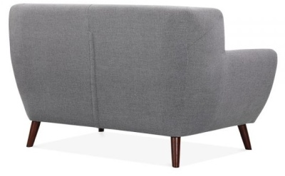 Emily Two Seater Sofa In Smoke Grey Rear Angle View