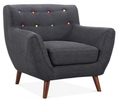 Emily Single Seater Angle View In Dark Grey