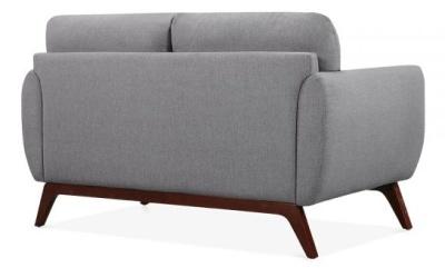 Toleta Two Seater Sofa In Smoke Grey Rear Angle