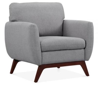 Toleta Armchair In Smoke Grey Angle View