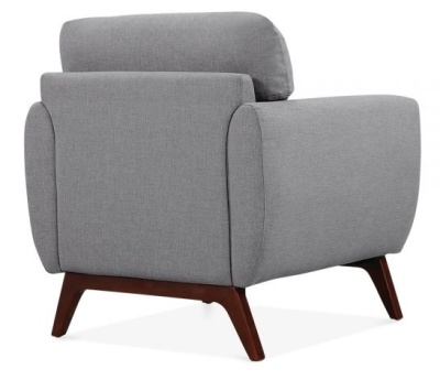 Toleta Armchair In Smoke Grey Rear Angle