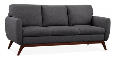 Toleta Three Seater Sofa In Dark Grey Angle View