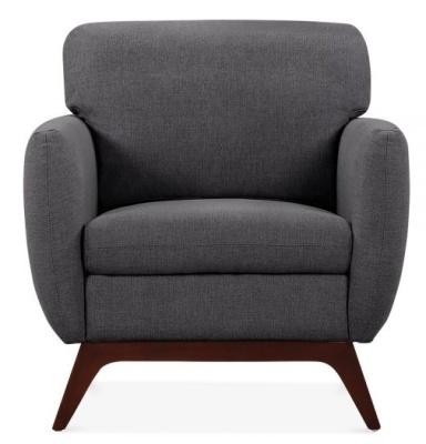 Toleta Single Seater In Dark Grey Front View