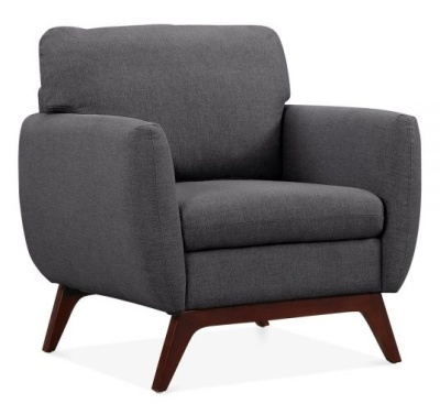 Toletra Armchair In Dark Grey Angle View