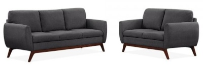 Toleta Sofa Set In Dark Grey