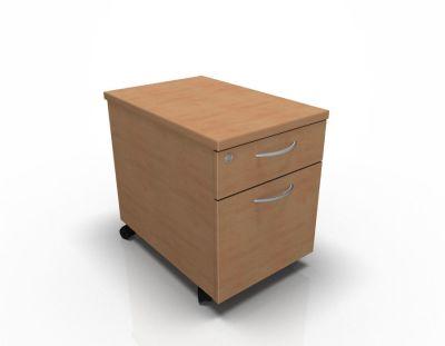 2 Drawer Mobile Pedestal Beech