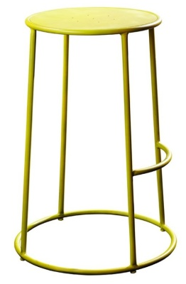 Maxine Metal High Stool In Yellow