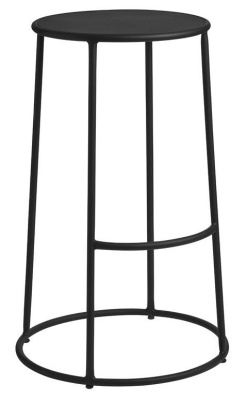 Maxine Metal High Stool In Black