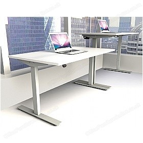 Abacus Sit Stand Desk In White