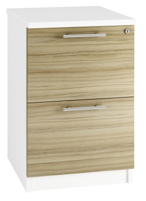 Trend Two Darwer Filing Cabinet With Light Olive Fronts