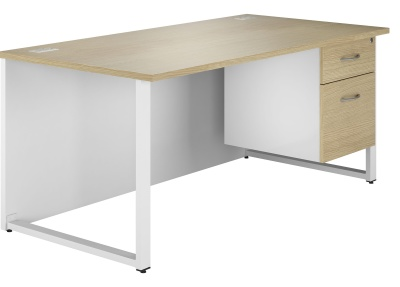 Duel Desk With Drawers