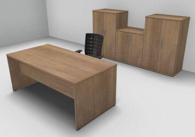 Avalon Exe Santiago Rectangular Desk Three Double Door Cupboards