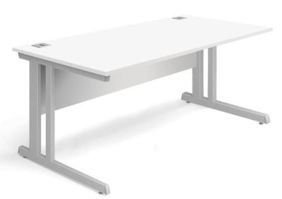 Trapido Rectangular Desk In White