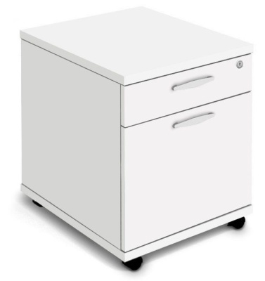Trapido Two Drawer Mobile Pedestals In White