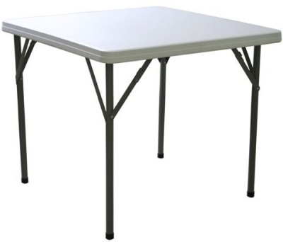 Compact Poly Square Folding Table