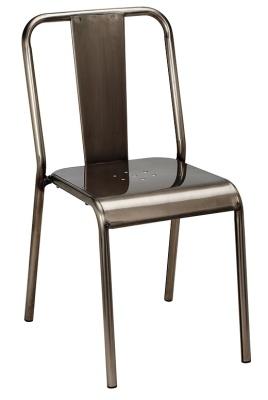 Lyon Gun Metal Side Chair To Clear