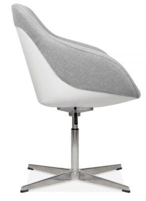 Mexico Tub Chair I9n Cool Grey Side View