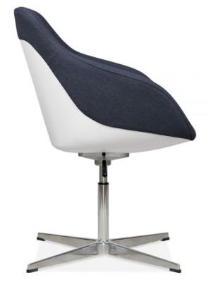 Mexico Tub Chair Dfark Blue Fabric Sidxe View