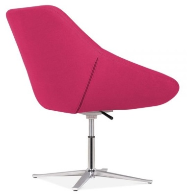 Maria Tub Chair In Hot Pink Rear Angle View