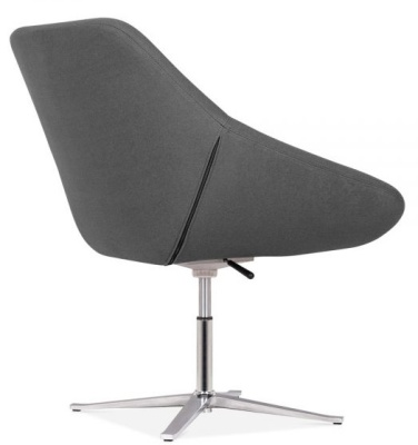 Maria Lounge Chair Rear Angle Dark Grey