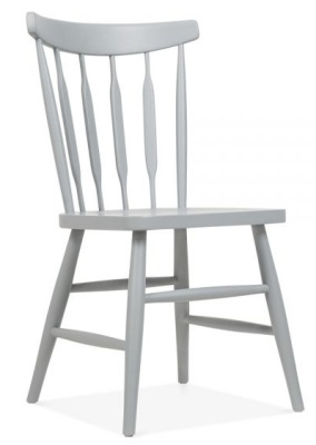 Eton Chair Grey Finish Front Angle