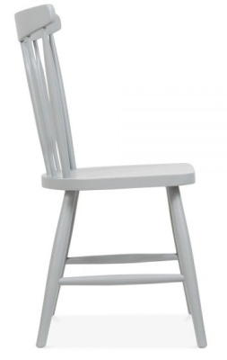 Eton Chair Grey Finish Side View