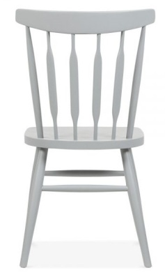 Eton Dining Chair Grey Finish Rear View