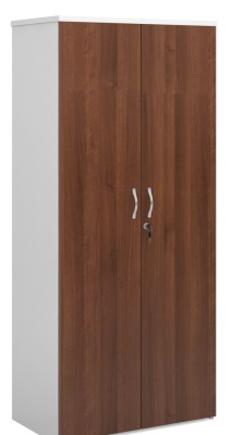Duplex Walnut And White Cupboard