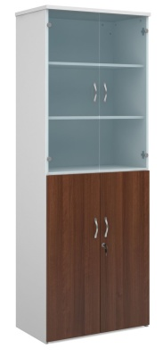 Duplex Tall Combination Cupoboard With Glass Doors