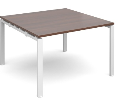 Exact Conference Table Wit A Walnut Top And White Frame