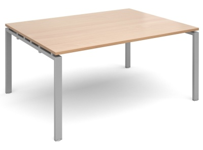Exact Starter Rectangular Meeting Table With A Beech Top And Silver Frame