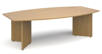 Dexter Boat Shaped Boardroom Table In Oak