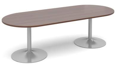 Tempest Oval Table With A Walnut Top