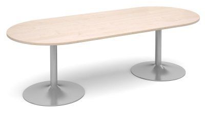 Tempest Oval Table With A Maple Top