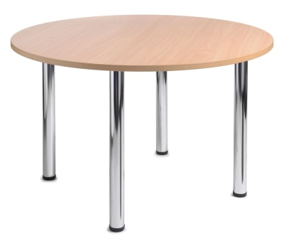 GM Circular Table With A Beech Top