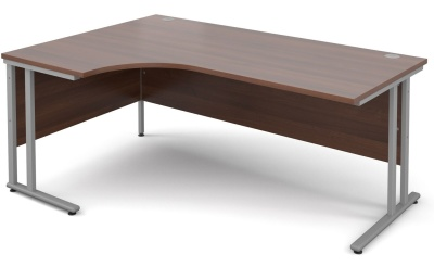 Momentum Next Day Corner Desk With A Walnut Top