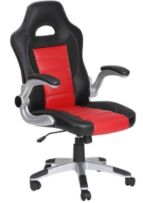 Fi Racer Chair With Red Inserts