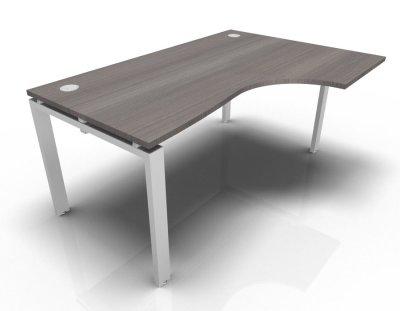 Right Hand Astro Desk- Cedar- White