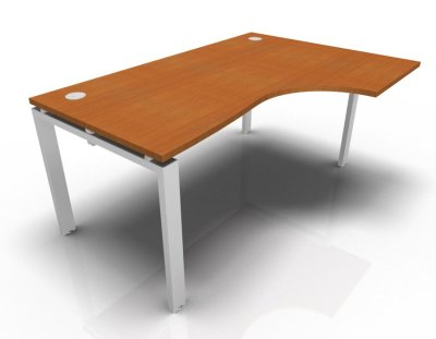 Right Hand Astro Desk- Cherrywood- White