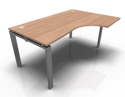 Right Hand Astro Desk- Merisier Naturel- Aluminium