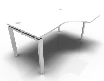 Right Hand Astro Desk- White- White