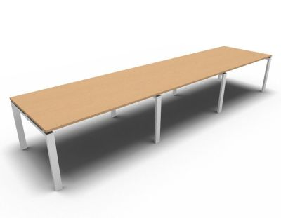 Astro Meeting Table- Beech- White
