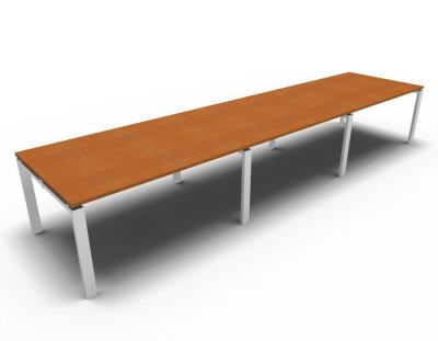 Astro Meeting Table- Cherrywood- White