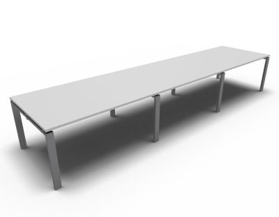 Astro Meeting Table- Light Grey- Aluminium