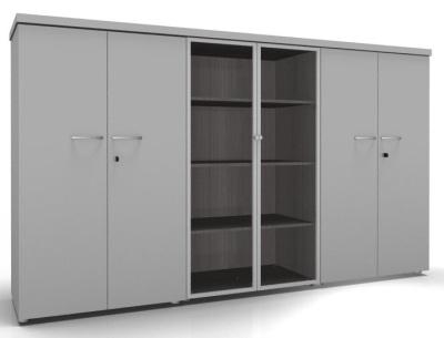 CO1 Storage Hinged Glass Doors Hinged Doors Grey Cedar
