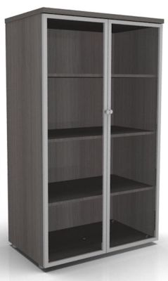 CO1cupboard With Glass Doors Cedar