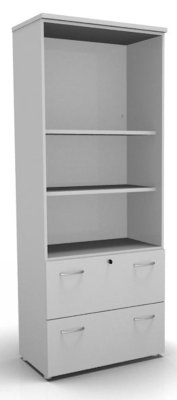 CO1Combination Filing Drawers White
