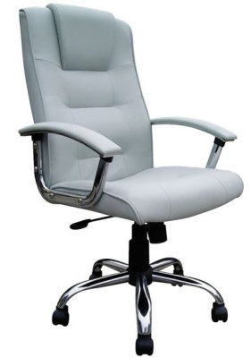 Raffles Leather Chaire Silver Leather